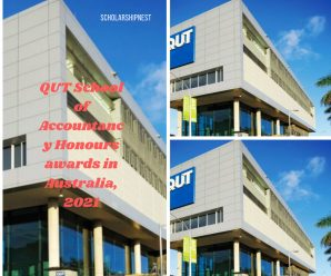QUT School of Accountancy Honours awards in Australia, 2021