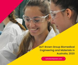 QUT Brown Group Biomedical Engineering and Materials in Australia, 2020