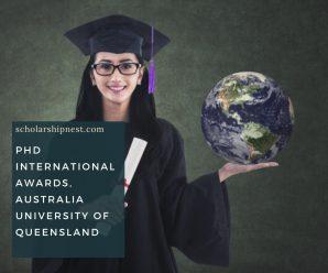 PhD international awards, Australia University of Queensland