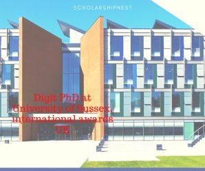 Digit PhD at University of Sussex, international awards UK