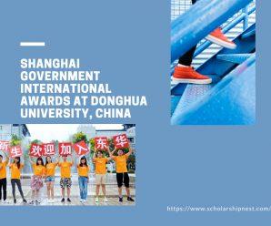Shanghai Government international awards at Donghua University, China