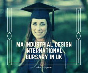 MA Industrial Design International Bursary in UK
