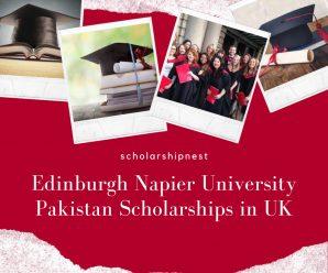Edinburgh Napier University Pakistan Scholarships in UK