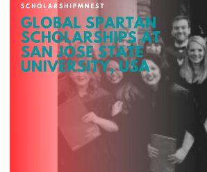 Global Spartan Scholarships at San Jose State University, USA