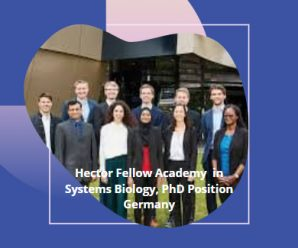 Hector Fellow Academy in Systems Biology, PhD Position Germany