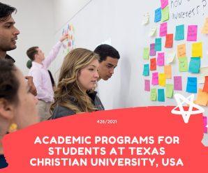 academic programs for Students at Texas Christian University, USA