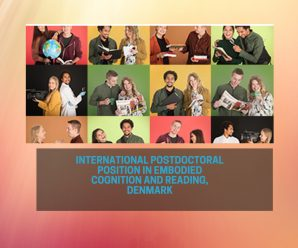 International Postdoctoral Position in Embodied Cognition and Reading, Denmark