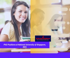PhD Positions at National University of Singapore, 2021