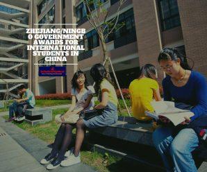 Zhejiang/Ningbo government awards for International students in China