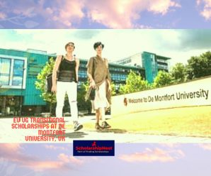 EU UG Transitional Scholarships at De Montfort University, UK