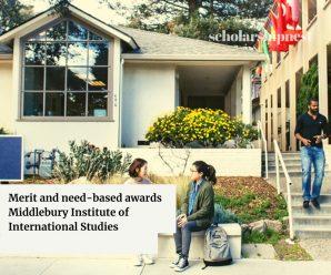 Merit and need-based awards  Middlebury Institute of International Studies