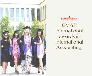 GMAT international awards in International Accounting, Audit & Control, France