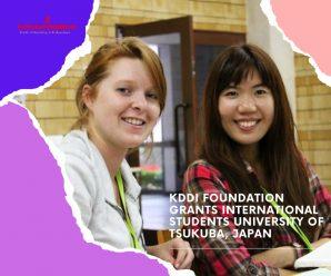 KDDI foundation grants International Students University of Tsukuba, Japan