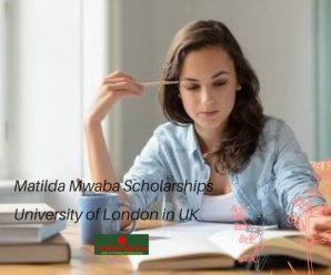 Matilda Mwaba Scholarships University of London in UK