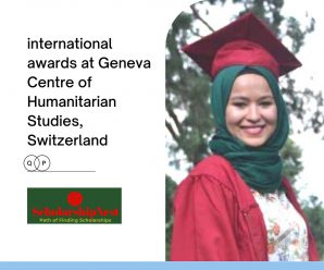 international awards at Geneva Centre of Humanitarian Studies, Switzerland