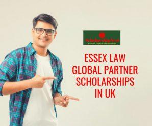 Essex Law Global Partner Scholarships in UK