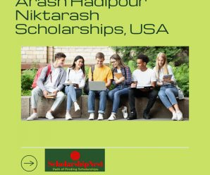 Arash Hadipour Niktarash Scholarships, USA
