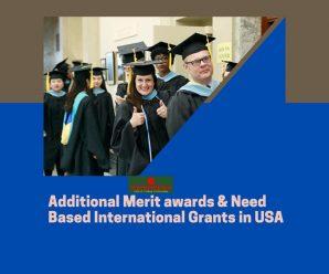 Additional Merit awards & Need Based International Grants in USA