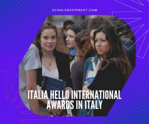 Italia Hello international awards in Italy