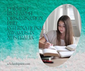 Forrest Research Organisation PhD international Awards in Australia
